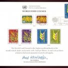 UNITED NATIONS POSTAL ADMINISTRATION Souvenir Card #10 - 1976 WORLD FOOD COUNCIL - First Day (N.Y.)