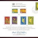 UNITED NATIONS POSTAL ADMINISTRATION Souvenir Card #10 - 1976 FOOD COUNCIL - First Day (Geneva)