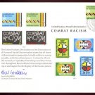 UNITED NATIONS POSTAL ADMINISTRATION Souvenir Card #12 - 1977 COMBAT RACISM - First Day (Geneva)