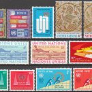 UNITED NATIONS (New York) - 1969 Complete Year Set (Sc. #192-202, C14) - MNH