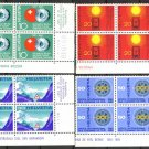 SWITZERLAND - 1967 Publicity Stamps (Sc. #483-6) - MNH Corner Plate Blocks of 4