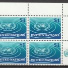 UNITED NATIONS (New York) - 1966 $1 Regular Issue (Sc. #150) - Inscription Block of 4 - MNH