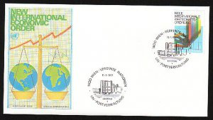 UNITED NATIONS (Vienna) - 1980 New Economic Order (#7) Official Geneva FDC - UA