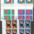 UNITED NATIONS (New York) - 1975 Complete Year Set (Sc. #256//66) - Inscription Blocks of 4 - MNH