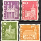 SWITZERLAND - 1967 Definitive Stamps (Sc. #389a, 391a, 395a, 396a) - MNH Singles