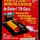 10/69 Popular Mechanics - 1970 AUTOS, GRANDFATHER CLOCK, FREON FIRE EXTINGUISHER
