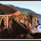 1980s BIG SUR, CALIFORNIA - Bixby Creek Bridge - Unused Postcard