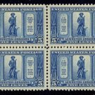 1925 5¢ Lexington-Concord (Sc. #619) - Block of 4 - MNH XF