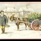 Victorian Trade Card - Arbuckle Brothers Coffee Company - Working Donkey w/ Cart