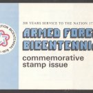 1975 Armed Forces Bicentennial (Sc. #1565-8) FDOI Program - Autographed by Postmaster General Bailar