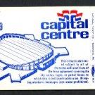 1979 CAPITAL CENTRE (Washington, D.C.) Sky Suite Ticket (Hockey Game) - Unused