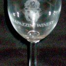 1987 RAPAZZINI WINERY, Gilroy, California - 25th Anniversary Souvenir Wine Glass
