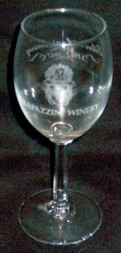 1987 RAPAZZINI WINERY, Gilroy, California - 25th Anniversary Souvenir Wine Glass