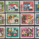 GERMANY - 1961//64 3 Sets of Fairy Tales (Sc. #B376-9, B392-5, B400-3) - Used
