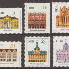 GERMANY (East) -1967 Historic Buildings - Set of 6 (Sc. #888-93) - MNH