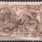 GREAT BRITAIN Postage Stamp - 1918 - 2sh6p Seahorses (Sc. #179) - Used