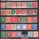 GREAT BRITAIN - 1881-2004 - 72 Different Postage Stamps - Used