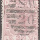 GREAT BRITAIN Postage Stamp - 1876 - 2½p Queen Victoria (Sc. #67 - Pl. #8) -Used
