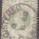 GREAT BRITAIN Postage Stamp - 1887 - 1sh Queen Victoria (Sc. #122) - Used