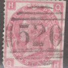 GREAT BRITAIN Postage Stamp - 1867 - 3p Queen Victoria (Sc. #49a, Pl. #6) - Used