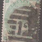 GREAT BRITAIN Postage Stamp - 1862 - 1s Queen Victoria (Sc. #42, Pl. #1) - Used
