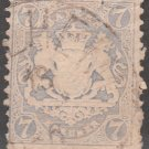 BAVARIA Postage Stamp - 1870 - 7kr Coat of Arms (Sc. #26) - Used