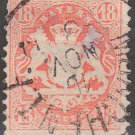 BAVARIA Postage Stamp - 1870 - 18kr Coat of Arms (Sc. #30) - Used