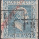 PRUSSIA Postage Stamp - 1858 - 2sg King Frederick William IV (Sc. #12) - Used