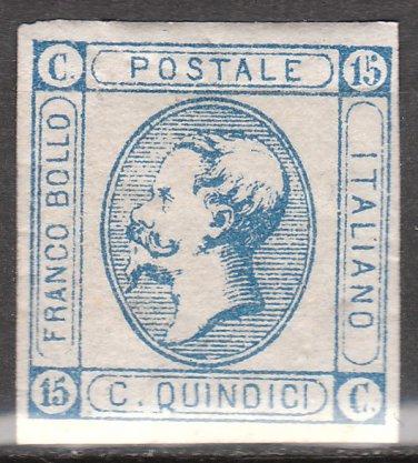 ITALY Postage Stamp - 1863 - 15c King Victor Emmanuel II (Sc. #23) - Unused