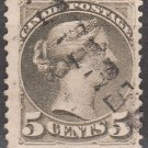 CANADA Postage Stamp - 1888 - 5c Queen Victoria (Sc. #42) - Used