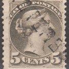 CANADA Postage Stamp - 1888 - 5c Queen Victoria (Sc. #42) - Used