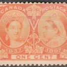 CANADA Postage Stamp - 1897 - 1c Queen Victoria Jubilee (Sc. #51) - Unused (no gum)