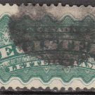 CANADA Postage Stamp - 1875 - 5c Registered Letter (Sc. #F2) - Used