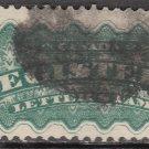 CANADA Postage Stamp - 1875 - 5c Registered Letter (Sc. #F2) - Used