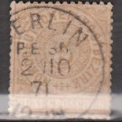 GERMANY Postage Stamp - 1868 - 5gr North German Confederation (Sc. #6) - Used