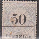 GERMANY 19th Century Telegraph Stamp - 1875 - 50pf - Used