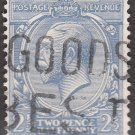 GREAT BRITAIN Postage Stamp - 1924 - 2½p King George V (Sc. #191) - Used