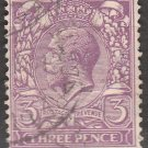 GREAT BRITAIN Postage Stamp - 1924 - 3p King George V (Sc. #192) - Used