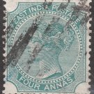 INDIA Postage Stamp - 4a Queen Victoria (Sc. #26B) - Used