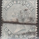 INDIA Postage Stamp - 1882 - 1r Queen Victoria (Sc. #46) - Used