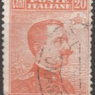ITALY Postage Stamp - 1916 - 20c King Victor Emmanuel III (Sc. #112) - Used