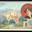 C. BERIOT Victorian Trade Card - CHICOREE EXTRA A LA BELLE JARDINIERE - L'Alhambra Palace