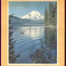1950s CALIFORNIA COMPANY (Standard Oil) Print - Mt. St. Helens, Spirit Lake