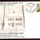 1967 - Litchfield Hills Stamp Club - First American Law School - Cacheted Cover