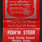 FISH N' STEER Restaurant - Matchbook - Charlotte Harbor, Florida