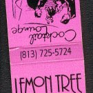 LEMON TREE Restaurant and Lounge - Matchbook Cover - Florida