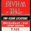 THE YARDARM / THE WHARF - Matchbook Cover - Pompano Beach / Fort Lauderdale, Florida