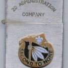 Vintage Cigarette Lighter - 2d Admin Co, 2d Infantry Division, 8th U.S. Army, Korea - Map