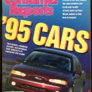 April, 1995 CONSUMER REPORTS - Annual Auto Issue, Warranties, Tax Preparation
