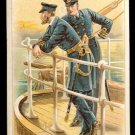 Victorian Trade Card - Arbuckle Brothers Coffee Company - Naval Officers Taking Smoking Break
